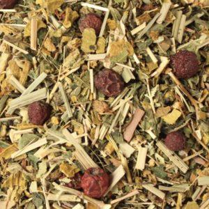 Kalmerende thee: Relaxtastic (meidoornbesjes, berkenbladeren en citroengras)