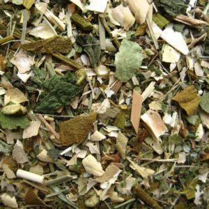 Rustgevende thee: Block that stress (met citroengras, sint-janskruid en ginko bladeren)